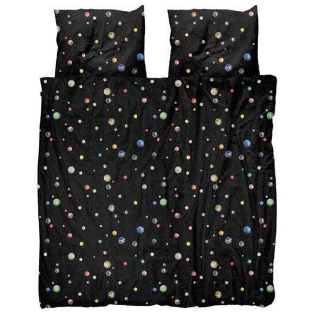 Snurk Beddengoed Enveloppe de couette Marble Universe multicolore en coton 200x200 / 220cm - Taie d'oreiller incluse 60x70cm