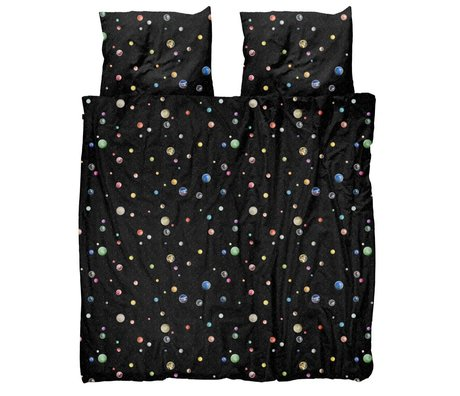 Snurk Beddengoed Duvet cover Marble Universe multicolour cotton 240x200 / 220cm - incl. Pillowcases 60x70cm