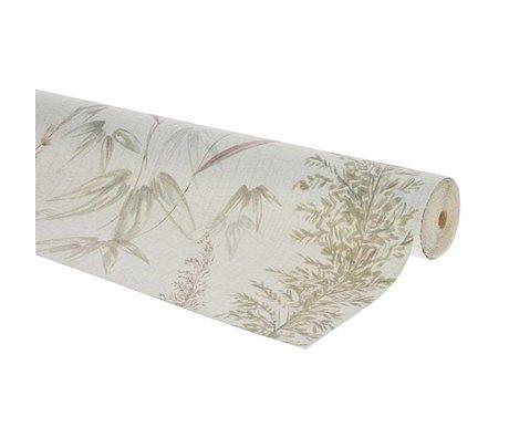 HK-living Wallpaper vintage reed multicolour non-woven wallpaper 0,53x10,05m - batch number 4A