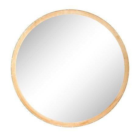 Riverdale Spiegel Elano rond goud metaal ø49cm schade