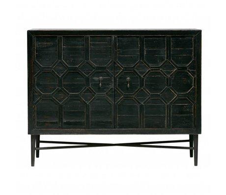BePureHome Kast Bequest 2-deurs zwart hout metaal 109x50x86cm