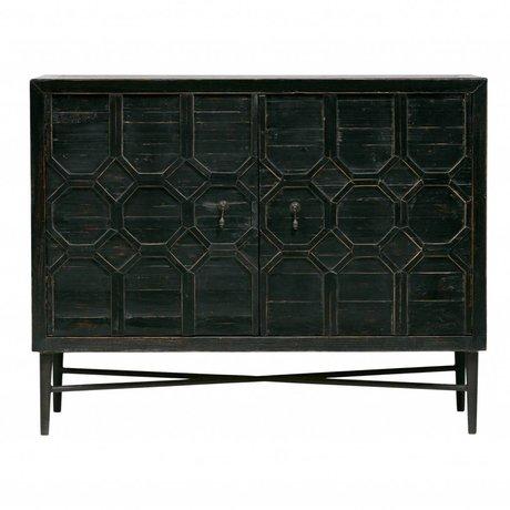 BePureHome Cabinet Bequest 2-door black wood metal 109x50x86cm