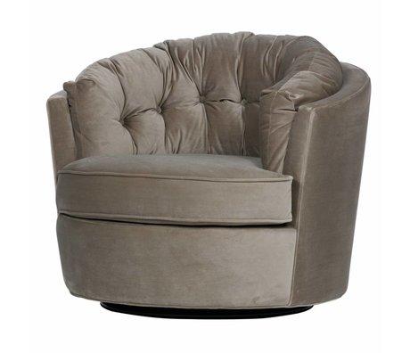 BePureHome Pivot armchair Carousel kakhi velvet 87x88x76cm