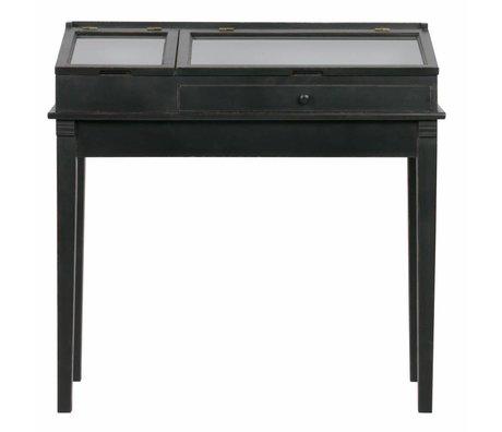 BePureHome Sidetable Herritage zwart hout 101x46x98cm