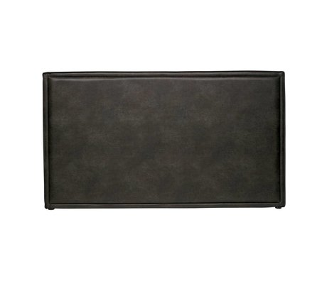 BePureHome Headboard Snooze black eco leather 177x6x100cm