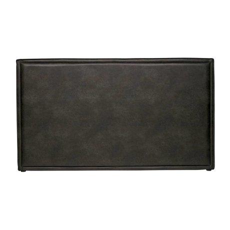 BePureHome Tête de lit Snooze en simili cuir noir 177x6x100cm