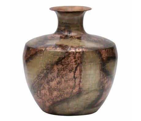 BePureHome Vase Spot auf XL Gold Kupfer Metall 30x30x35cm