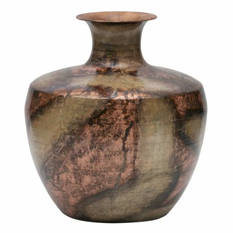 BePureHome Vase Spot on XL gold copper metal 30x30x35cm