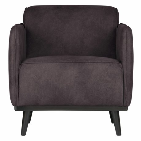 BePureHome Armchair Statement gray eco leather 72x93x77cm