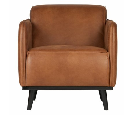 BePureHome Armchair Statement cognac brown eco leather 72x93x77cm