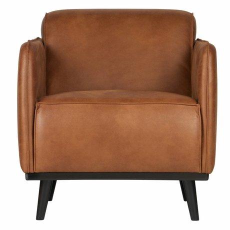 BePureHome Armchair Statement cognac brown eco leather 72x93x77cm
