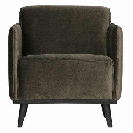BePureHome Armchair Statement warm green velvet 72x93x77cm