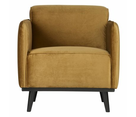 BePureHome Armchair Statement honey yellow velvet 72x93x77cm
