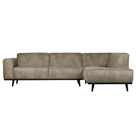 BePureHome Corner sofa Statement right elephant skin gray leather 74x210x77cm