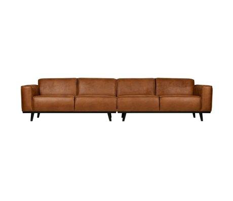 BePureHome Kontoauszug XL 4-Sitzer Cognac braun Öko-Leder 372x93x77cm