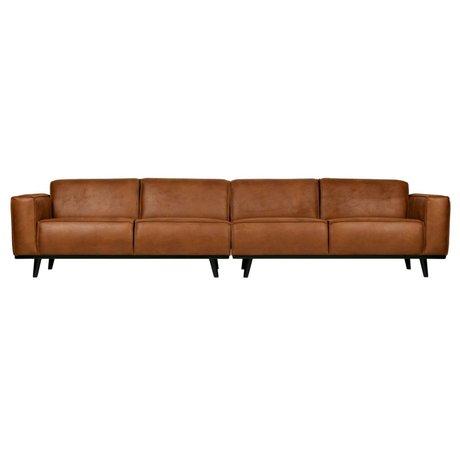 BePureHome Kontoauszug XL 4-Sitzer cognacbraun Kunstleder 372x93x77cm