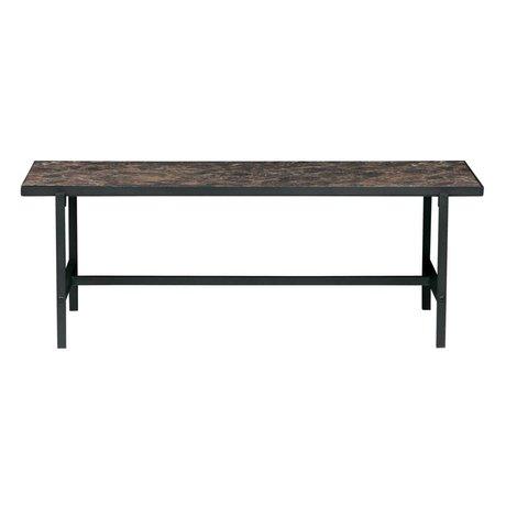 BePureHome Salontafel Turn Around zwart hout metaal 100x54x36cm