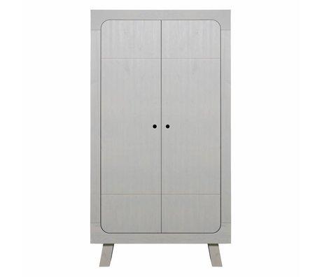 LEF collections Cupboard Sammie 2-door warm gray pine 110x55x200cm