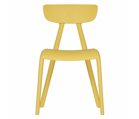 LEF collections Children's chair Wisse yellow plastic 40x36x58cm