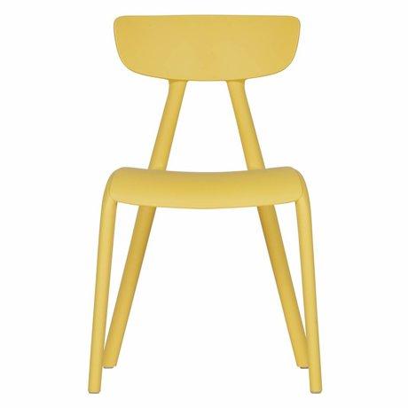 LEF collections Chaise enfant Wisse en plastique jaune 40x36x58cm