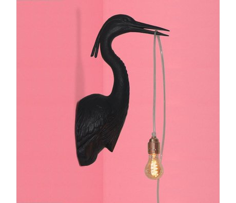 Jasmin Djerzic Wandlamp Flying Dutchman zwart kunststof 16x29,5x48cm