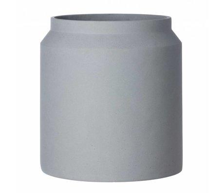 Ferm Living Pot voor plant licht grijs beton large ø36x39cm schade