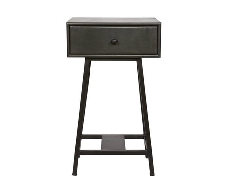 BePureHome Sidetable Skybox black metal 70x45x30cm damage
