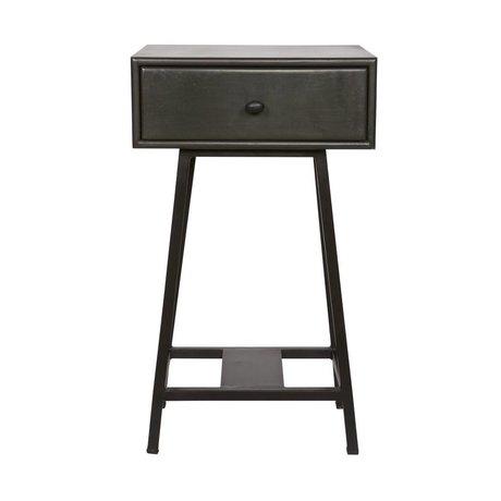 BePureHome Table latérale Skybox en métal noir 70x45x30cm de dégâts