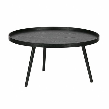 LEF collections Bijzettafel Mesa XL zwart hout ø78x39cm schade