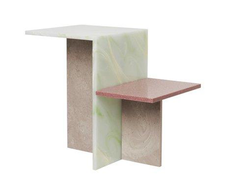 Ferm Living Sidetable Distinct multicolour acrylic stone 59,5x35x50cm