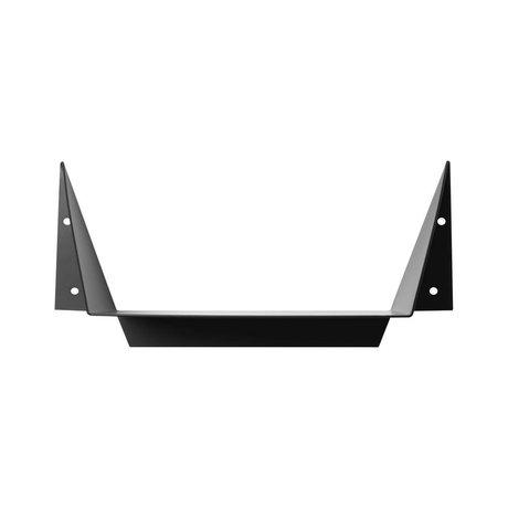 Ferm Living Wandplank Gami Small zwart metaal 40x18,6x15cm
