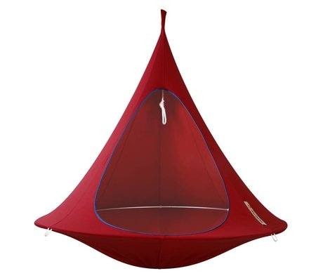 Cacoon Hangstoel tent Double 2-persoons rood 180x150cm