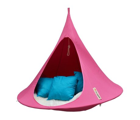 Cacoon Hangstoel 2-person tent Double fuchsia pink 180x150cm