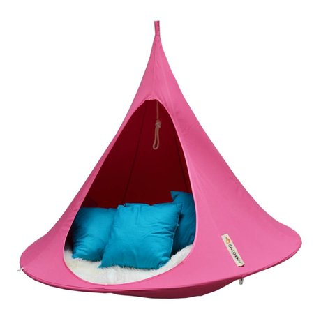Cacoon Hangstoel tent Double 2-persoons fuchsia roze 180x150cm