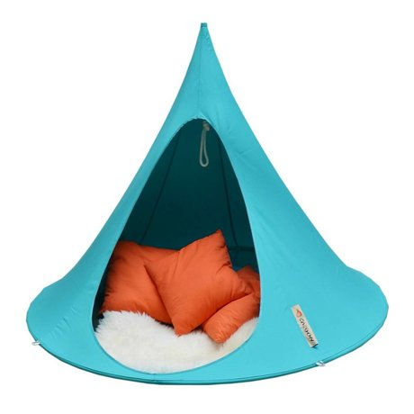 Cacoon Hangstoel tent Double 2-persoons turquoise blauw 180x150cm