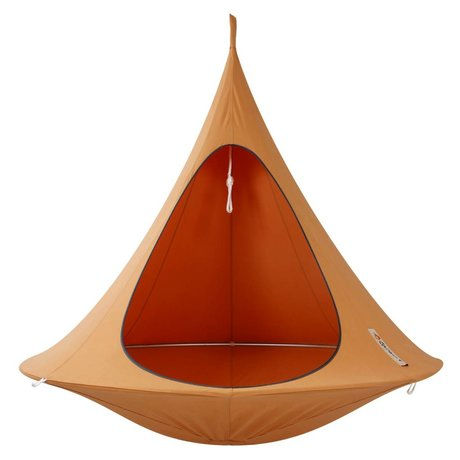 Cacoon Hangstoel Double 2 personne tente d'orange 180x150cm