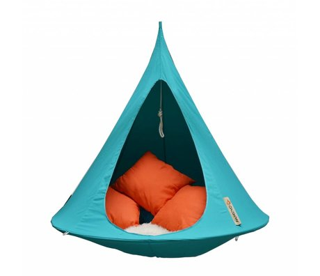 Cacoon Hangstoel tent Single 1-persoons tuquoise blauw 150x150cm