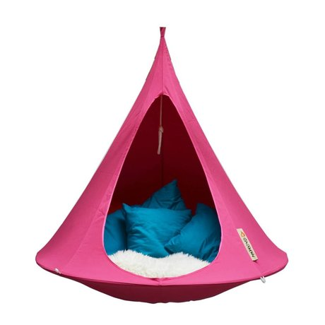 Cacoon Hangstoel tent Single 1-persoons fuchsia roze 150x150cm