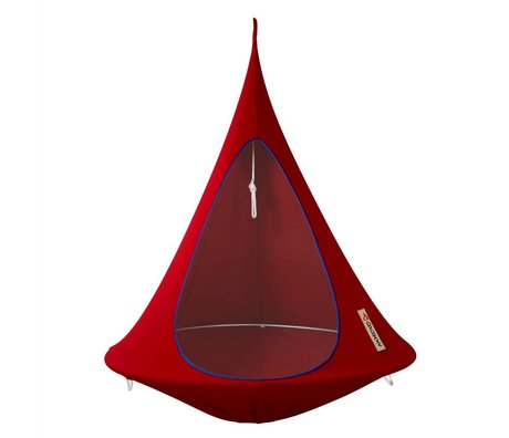 Cacoon Hangstoel tent Single 1-persoons rood 150x150cm