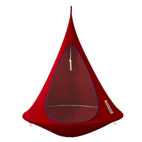 Cacoon Hangstoel Zelt Single 1 single red 150x150cm