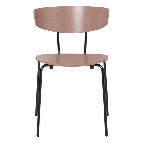 Ferm Living Chaise de salle à manger Herman vieux bois rose métal 50x47x74cm
