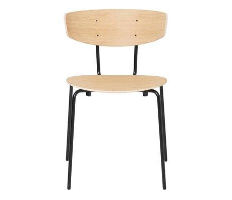 Ferm Living Chaise de salle à manger Herman en bois de chêne naturel métal 50x47x74cm
