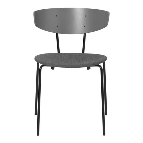 Ferm Living Dining chair Herman upholstered gray textile wood metal 50x47x74cm