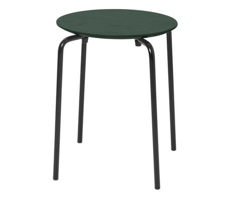 Ferm Living Kruk Herman donker groen hout metaal 35,5x30,5x45cm