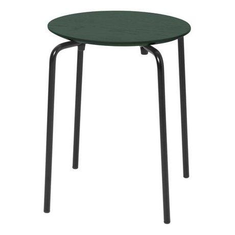 Ferm Living Tabouret Herman bois vert foncé métal 35,5x30,5x45cm