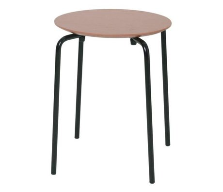 Ferm Living Hocker Herman altes rosa Holz Metall 35,5x30,5x45cm