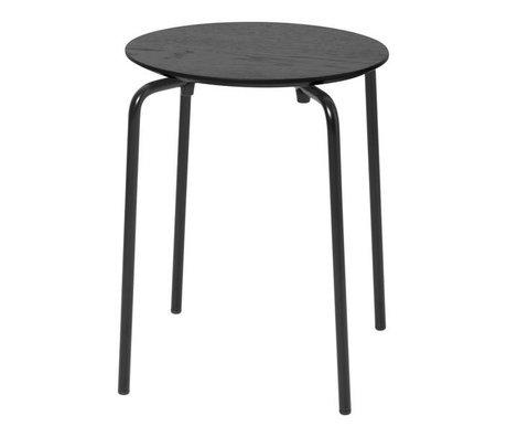 Ferm Living Tabouret Herman bois noir métal 35,5x30,5x45cm