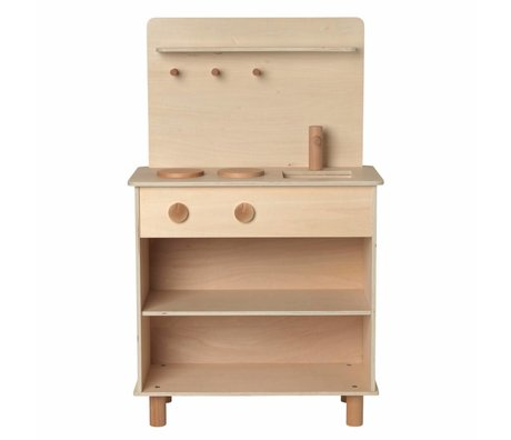 Ferm Living Speelkeuken Toro Play Kitchen naturel bruin hout 26x53x87cm