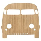Ferm Living Wall lamp Car Oiled Oak natural brown wood 6,5x27x22,5cm