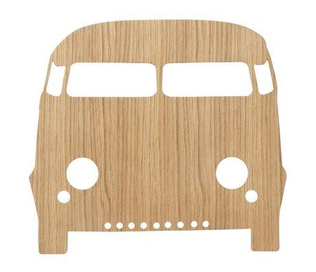 Ferm Living Wandlamp Car Oiled Oak naturel bruin hout 6,5x27x22,5cm